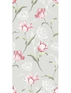 Норфолк Цветы серый 30х60