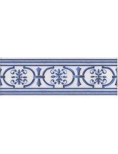 Керамический бордюр 20х6,3 Английский Делфт