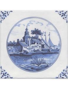Керамический декор 20х20 Английский Делфт Вилла