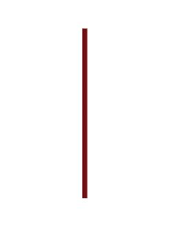 Плитка Uniwersalna Listwa Szklana Karmazyn 2,3 x 75