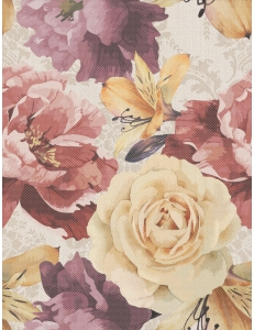 Golden Tile Gobelen flower бежевый 25x33