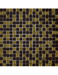 Grand Kerama Мозаика 1078 микс шоколад - золото рифленое золото 30х30