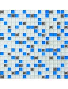 Grand Kerama Мозаика 466 микс белый-голубой-платина 30х30