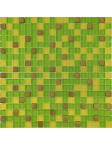 Grand Kerama Мозаика 457 микс зеленый-желтый-золото 30х30