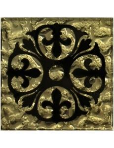 Тако напольная вставка Бутон золото рифл., 6,6*6,6