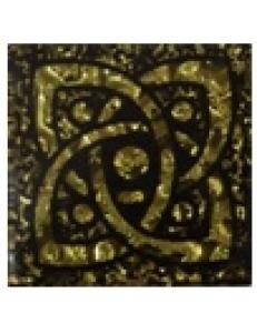 Тако напольная вставка Галактика золото рифл., 6,6*6,6