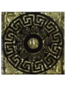 Тако напольная вставка Греция золото рифл., 6,6*6,6