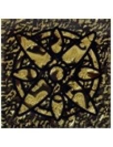 Тако напольная вставка Зірка золото рифл., 6,6*6,6