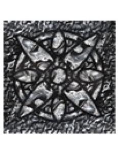 Тако напольная вставка Зірка платина рифл., 66*66*8