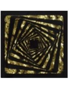 Тако напольная вставка Квадрат золото рифл., 6,6х6,6