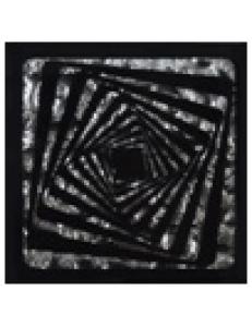 Тако напольная вставка Квадрат платина рифл., 6,6х6,6