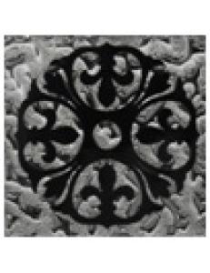 Тако напольная вставка Леано платина рифл., 6,6х6,6