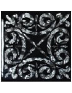 Тако напольная вставка Классик платина рифл., 6,6х6,6