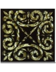 Тако напольная вставка Классик золото рифл., 6,6х6,6