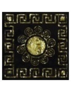 Тако напольная вставка Византия золото рифл., 6,6*6,6