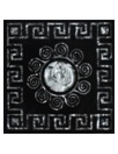 Тако напольная вставка Византия платина рифл., 6,6*6,6
