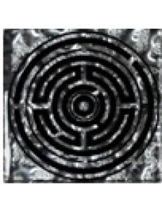 Тако напольная вставка Лабиринт платина рифл., 6,6х6,6