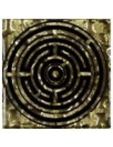 Тако напольная вставка Лабиринт золото рифл., 6,6х6,6