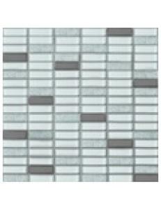 Grand Kerama Мозаика 1086 микс белый-белый кол.-платина 300 x 300