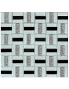 Grand Kerama Мозаика 1077 Трино черно-белая 300x300