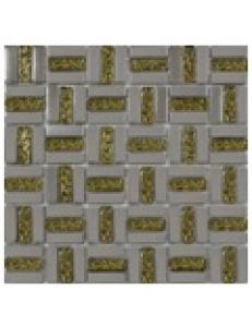Grand Kerama Мозаика 1087 Трино платина-золото рифл. 300x300