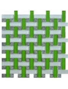 Grand Kerama Мозаика 1081 плетенка зеленая 280 х 280