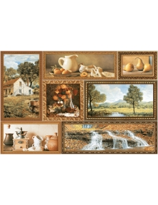GRANI декор коричневый / Д 74 031