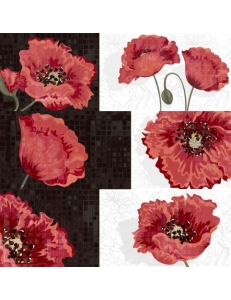 Декор (25x75) DECOR COMPOSICION POPPY-3 (набор 3 шт.)
