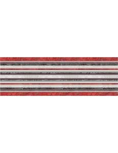 Декор (25x75) DECOR LINES ROJO