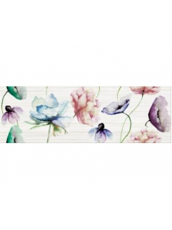 Плитка Elegant stripes inserto flower 25X75