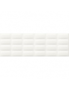 White glossy pillow 25X75