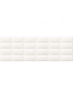 Плитка White glossy pillow 25X75