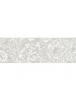 Плитка White Inserto Flower 25X75
