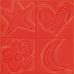Декор (20x20) AGATHA CUATRO RELIEVE CARMIN