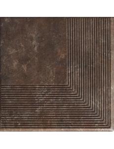 Paradyz Ilario Brown Stopnica Narozna 30x30