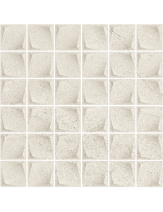 Paradyz Minimal Stone Grys  Mozaika Prasowana K.4,8x4,8 29,8 x 29,8