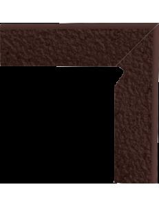 Paradyz Natural Brown Duro Cokol Dwuelementowy Schodowy Prawy 8,1x30