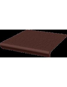 Paradyz Natural Brown Duro Stopnica z Kapinosem Prosta 30x33