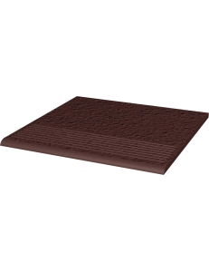 Paradyz Natural Brown Duro Stopnica Prosta 30x30
