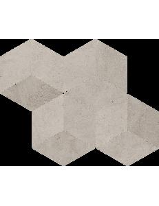 Paradyz Pure City Grys Mozaika Prasowana Romb Hexagon 20,4x23,8