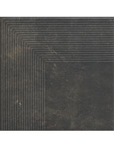 Paradyz Scandiano Brown Stopnica Narozna 30x30