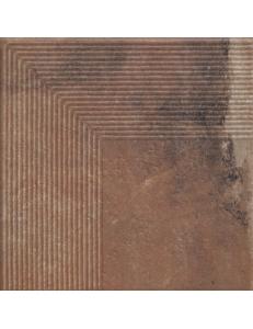 Paradyz Scandiano Rosso Stopnica Narozna 30x30
