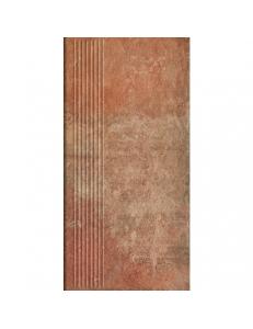 Paradyz Scandiano Rosso  Stopnica Prosta 30x60