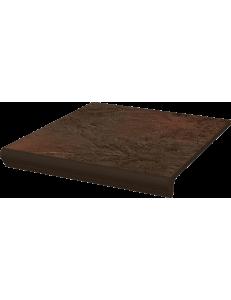 Paradyz Semir Brown Stopnica Kapinosem Prosta 30x33