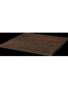 Paradyz Semir Brown Stopnica Prosta 30x30
