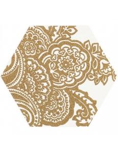 Paradyz Shiny Lines Gold Heksagon Inserto B 19,8 x17,1