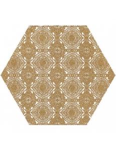 Paradyz Shiny Lines Gold Heksagon Inserto E 19,8 x17,1