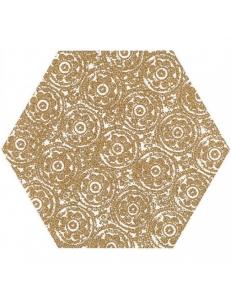 Paradyz Shiny Lines Gold Heksagon Inserto F 19,8 x17,1
