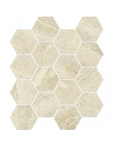 Paradyz Sunlight Sand Beige Mozaika Prasowana Hexagon New 22 x 25,5