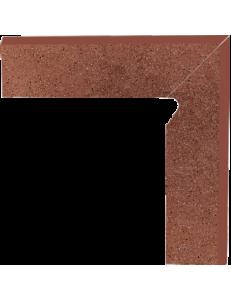 Paradyz Taurus Brown Cokol Schodowy Dwuelemtntowy Prawy 8,1x30